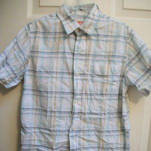 Skhuban White & Blue Checked Shirt Boy Size 9-11